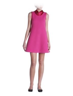 Emporio Armani Online Store - 60's A-Line Cowl Neck Dress - Dresses