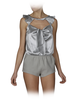 Silk Charmeuse One-Piece Romper