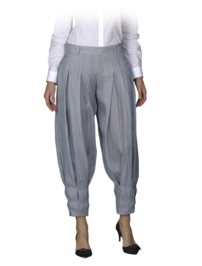 Emporio Armani Organza Wide Jodphur - Women's Pants - Official Online Store