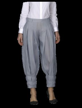 Emporio Armani Organza Wide Jodphur - Women's Pants - Official Online Store