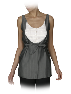Pinstripe Bibfront Top