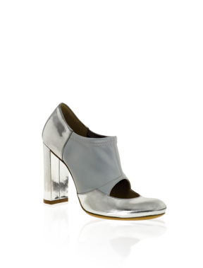 Emporio Armani Online Store - Laminate and Satin Stretch Bootie - Shoes