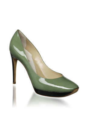 Patent Bicolor Platform Pump